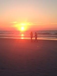 AI beach sunrise