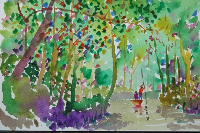 Backwaters - watercolour by NB