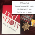 The #TFBookClub reads 'Red Snow' by Will Dean set in SWEDEN