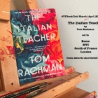 The #TFBookClub reads 'The Italian Teacher' by Tom Rachman set in LONDON, NEW YORK CITY, ROME & the SOUTH OF FRANCE