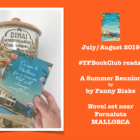 The #TFBookClub reads 'A Summer Reunion' set in MALLORCA