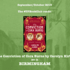 The #TFBookClub reads 'The Conviction of Cora Burns, set in BIRMINGHAM
