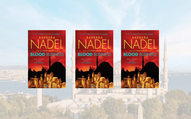 3 copies of BLOOD BUSINESS by Barbara Nadel